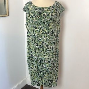 Connected Apparel Green Faux Wrap Knit Dress 22W